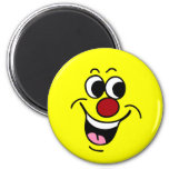 """Smiling Face: Did someone say """"Happy Hour?"""" Refrigerator Magnets"""