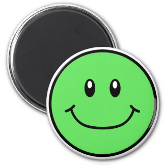Smiling Face Magnet Green 0001