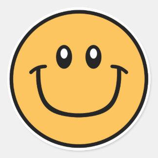 Smiling Face Stickers Orange 0003