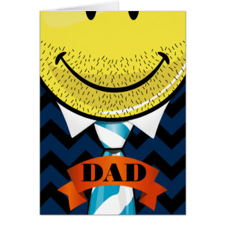 Smiling Face With A Tie Father's Day Greeting Card