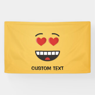 Smiling Face with Heart-Shaped Eyes Banner