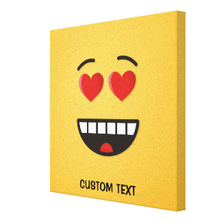 Smiling Face with Heart-Shaped Eyes Canvas Print