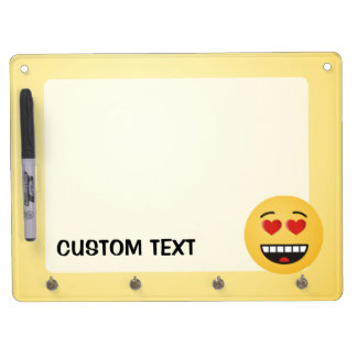 Smiling Face with Heart-Shaped Eyes Dry Erase Board With Keychain Holder