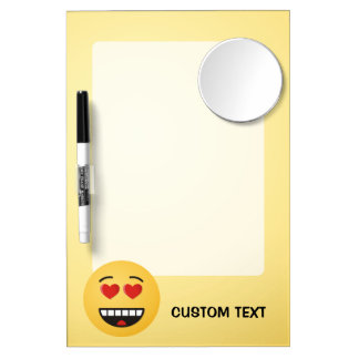 Smiling Face with Heart-Shaped Eyes Dry Erase Board With Mirror