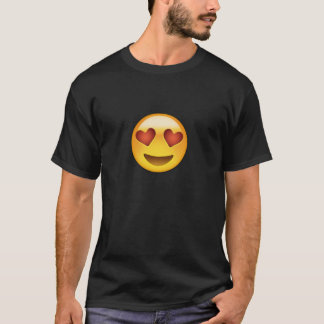 Smiling Face With Heart Shaped Eyes Emoji T-Shirt