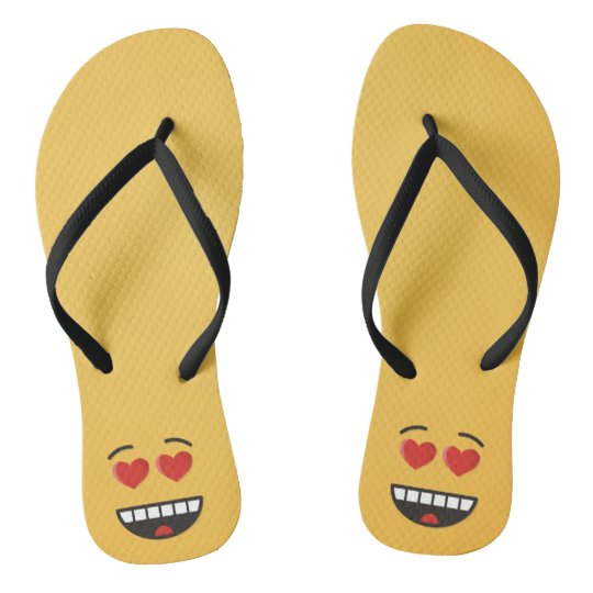 Smiling Face with Heart-Shaped Eyes Flip Flops