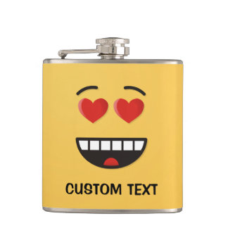 Smiling Face with Heart-Shaped Eyes Hip Flask