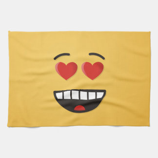 Smiling Face with Heart-Shaped Eyes Kitchen Towel
