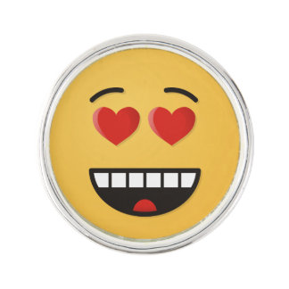Smiling Face with Heart-Shaped Eyes Lapel Pin