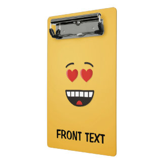 Smiling Face with Heart-Shaped Eyes Mini Clipboard