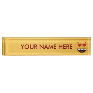 Smiling Face with Heart-Shaped Eyes Nameplate