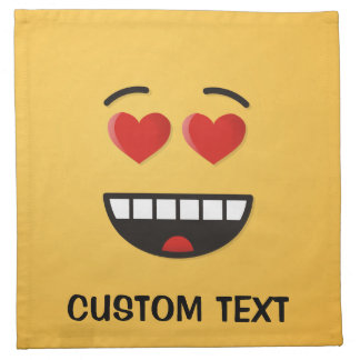 Smiling Face with Heart-Shaped Eyes Napkin