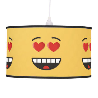 Smiling Face with Heart-Shaped Eyes Pendant Lamp