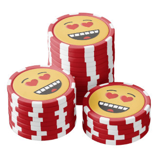 Smiling Face with Heart-Shaped Eyes Poker Chips