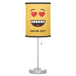 Smiling Face with Heart-Shaped Eyes Table Lamp