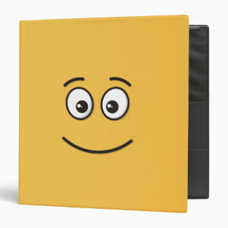Smiling Face with Open Eyes 3 Ring Binders