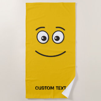 Smiling Face with Open Eyes Beach Towel