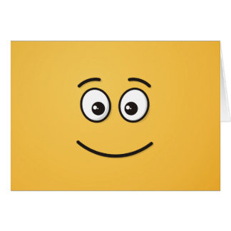 Smiling Face with Open Eyes Card