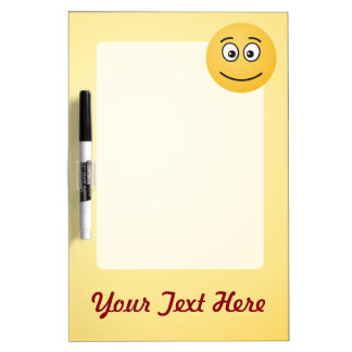 Smiling Face with Open Eyes Dry Erase Board