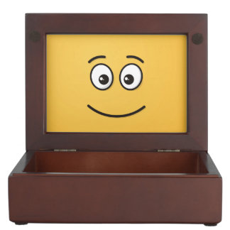 Smiling Face with Open Eyes Keepsake Box
