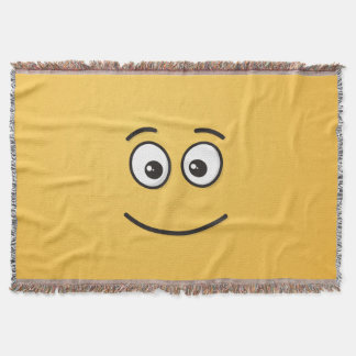Smiling Face with Open Eyes Throw Blanket