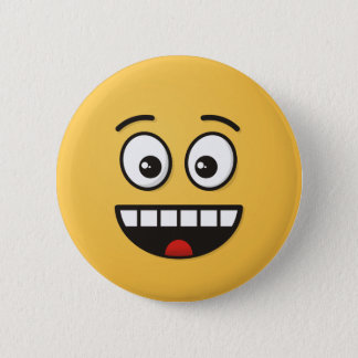 Smiling Face with Open Mouth 2 Inch Round Button