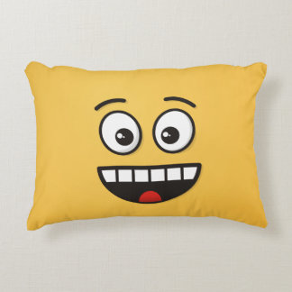 Smiling Face with Open Mouth Accent Pillow