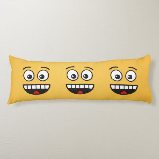 Smiling Face with Open Mouth Body Pillow