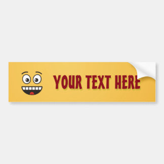 Smiling Face with Open Mouth Bumper Sticker