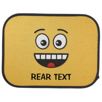 Smiling Face with Open Mouth Car Mat