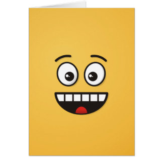 Smiling Face with Open Mouth Card