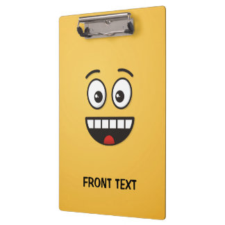 Smiling Face with Open Mouth Clipboard