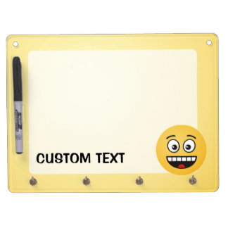 Smiling Face with Open Mouth Dry Erase Board With Keychain Holder