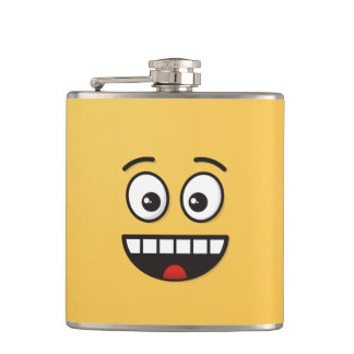 Smiling Face with Open Mouth Hip Flask