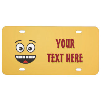 Smiling Face with Open Mouth License Plate