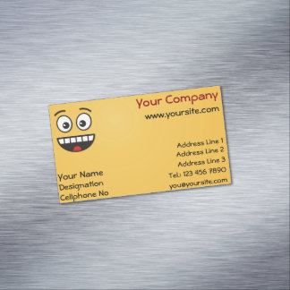 Smiling Face with Open Mouth Magnetic Business Card