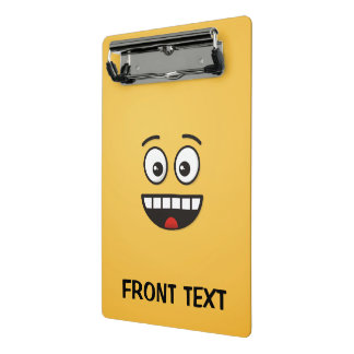 Smiling Face with Open Mouth Mini Clipboard