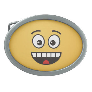Smiling Face with Open Mouth Oval Belt Buckles