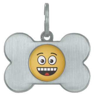 Smiling Face with Open Mouth Pet Name Tag