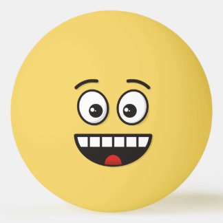 Smiling Face with Open Mouth Ping Pong Ball