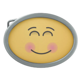 Smiling Face with Smiling Eyes Belt Buckle