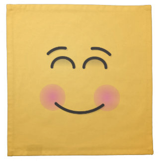 Smiling Face with Smiling Eyes Napkin