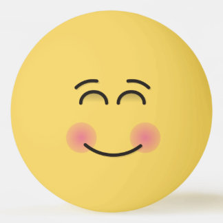 Smiling Face with Smiling Eyes Ping Pong Ball