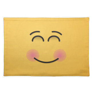 Smiling Face with Smiling Eyes Placemat