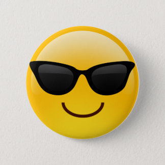 Smiling Face With Sunglasses Cool Emoji 2 Inch Round Button