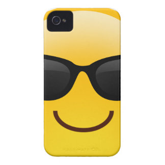 Smiling Face With Sunglasses Cool Emoji Case-Mate iPhone 4 Cases