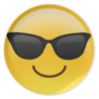 Smiling Face With Sunglasses Cool Emoji Plate