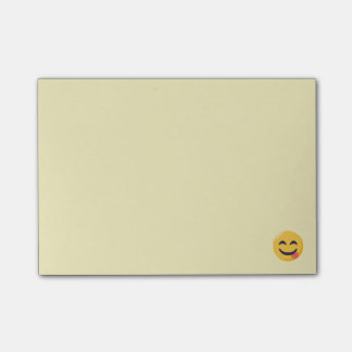 Smiling Face with Tongue Emoji Post-it Notes