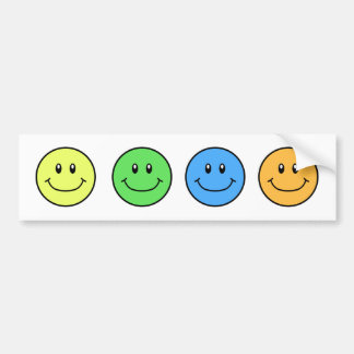 Smiling Faces Bumper Sticker YGBO 0001