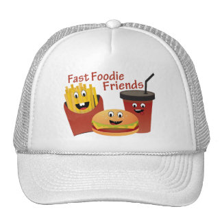 Smiling Fast Foodie Friends Trucker Hat
